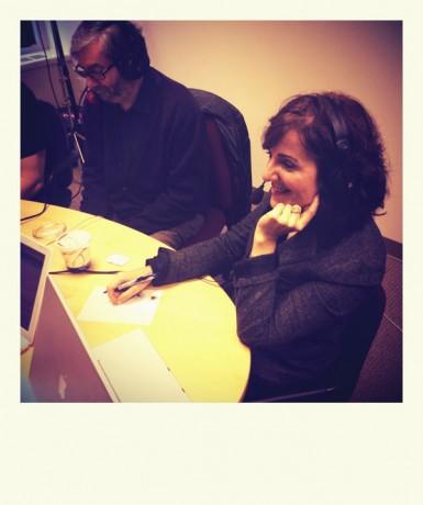Elvira Lindo y Antonio Muñoz Molina en Radio Nacional de España