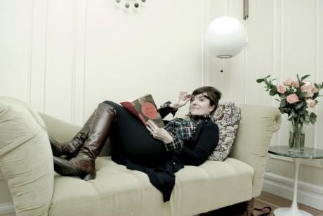 Elvira Lindo en su casa de Nueva York
